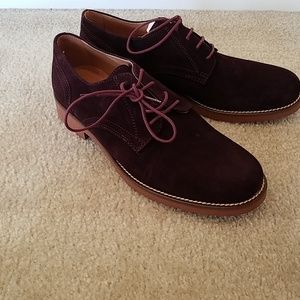 Bass burgundy suede oxford shoes sz 8 NEW!